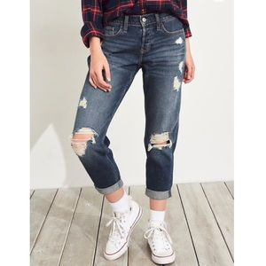 Hollister Ripped Low Waisted Jeans